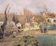 Camille Pissarro Kitchen garden at L-Hermitage,Pontoise jardin potager a L-Hermitage,Pontoise oil painting reproduction