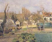 Camille Pissarro Kitchen Garden at L-Hermitage,Pontoise oil painting on canvas