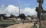 Camille Pissarro Banks of the Oise at Pontoise oil painting reproduction