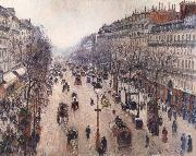 Boulevard Montmartre,morning cloudy weather, Camille Pissarro