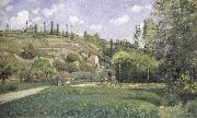 A cowherd on the route du Chou,Pontoise, Camille Pissarro
