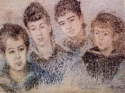 The Four Hoschede Childern Jacques,Suzanne,Blanche and Germaine, Claude Monet