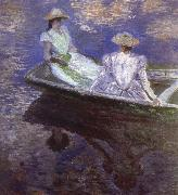 Young Girls in the Rowing Boat, Claude Monet