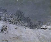 The Road in front of Saint-Simeon Farm in Winter, Claude Monet
