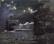 Claude Monet Seascape,Night Effect oil painting on canvas