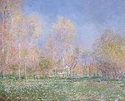 Spring in Giveryny, Claude Monet