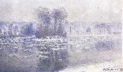 Floes at Bennecourt, Claude Monet