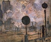 Claude Monet Exterior of Saint-Lazare Station oil painting reproduction