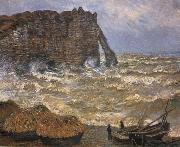 The Cliff at Etretat after a Storm, Claude Monet