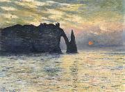 Etretat,Sunset, Claude Monet