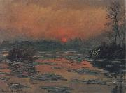 Sunset on the Seine in Winter, Claude Monet