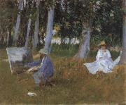 Claude Monet Painting in a Wood, Claude Monet