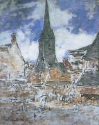 The Bell-Tower of Saint-Catherine at Honfleur, Claude Monet