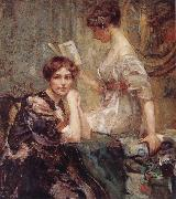 Colin Campbell Cooper Two Women oil painting reproduction