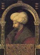 Portrait of the Ottoman sultan Mehmed the Conqueror, Gentile Bellini