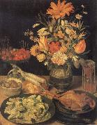 Still Life with Flowers and Food, Georg Flegel