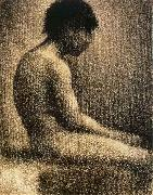 Georges Seurat The seated Teenager oil painting reproduction