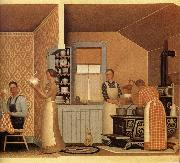 Grant Wood The Thresher-s supper oil painting reproduction