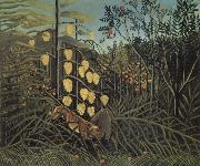 In a Tropical Forest.Struggle between Tiger and Bull, Henri Rousseau
