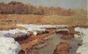 Isaac Levitan Spring,The Last Snow oil painting