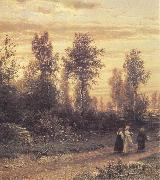 Ivan Shishkin Evening oil painting