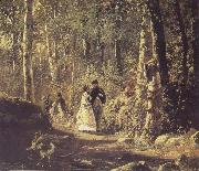 Ivan Shishkin A Stroll in the Forest oil painting