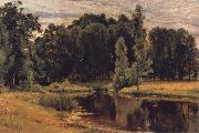 Ivan Shishkin The Pond in the old Flower gardens