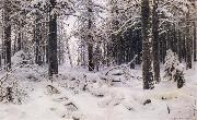 Ivan Shishkin Winter oil painting reproduction