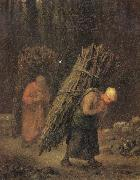 Jean Francois Millet Peasant Women Carrying Faggots oil painting