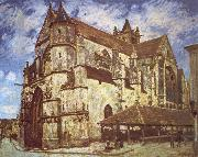 The church at Moret,Evening, Jean-Antoine Watteau