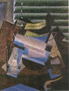 Juan Gris Window blind oil painting