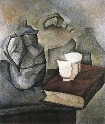 Juan Gris The still lief having book oil painting