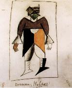 Clothes design for Subdue sun Opera, Kasimir Malevich