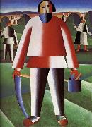 Kasimir Malevich Cut Grazing-s People oil painting reproduction