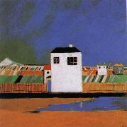 A white house in the landscape, Kasimir Malevich