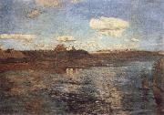 Levitan, Isaak Lake oil painting