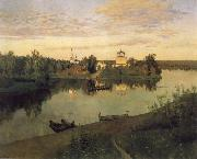 Levitan, Isaak Curfew oil painting reproduction