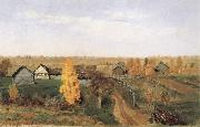 Golden Autumn-village and small town