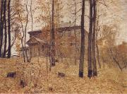 Levitan, Isaak Autumn-Garden Plot oil painting