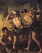 Luca  Giordano The Forge of Vulcan oil painting artist