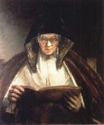 An Old Woman Reading, REMBRANDT Harmenszoon van Rijn