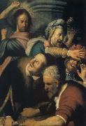Christ Driving the Money Changers from the Temple, REMBRANDT Harmenszoon van Rijn