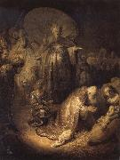 REMBRANDT Harmenszoon van Rijn The Adoration of The Magi oil painting reproduction