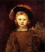 REMBRANDT Harmenszoon van Rijn Young Boy in Fancy Dress oil painting reproduction