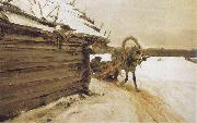 In Winter, Valentin Serov