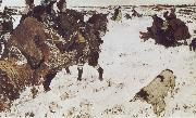 Peter the Great Riding to Hounds, Valentin Serov