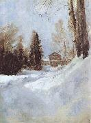 Winter in Abramtsevo A House, Valentin Serov