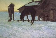 Colts at a Watering-Place., Valentin Serov