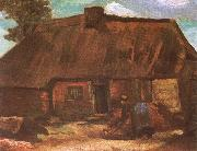 Cottage with Peasant Woman Digging (nn04)