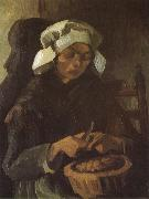 Peasant Woman Peeling Potatos (nn04), Vincent Van Gogh